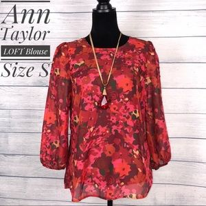 Ann Taylor loft blouse size small